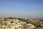 Samaria, Neve Kedem (Kiryat Luza), the Samaritan village on Mount Gerizim, Nablus (Shechem) is on the right