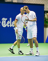 17-12-13,Netherlands, Rotterdam,  Topsportcentrum, Tennis Masters, ,      Thiemo de Bakker and Melle van Gemerden(L)<br /> Photo: Henk Koster