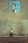 Belfast Northern Ireland mural painting of Queen Elizabeth 11 Ireland UK Circa 1975