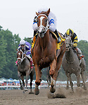 1 August 10: Lady Alexander and jockey CH marquez, Jr. win The Regret Stakes on Haskell Invitational Day at Monouth Park in Oceanport, New Jersey