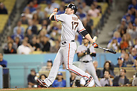 05/09/12 Los Angeles, CA: San Francisco Giants first baseman Aubrey Huff #17 during an MLB game played between the San Francisco Giants and Los Angeles Dodgers at Dodger Stadium