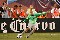 United States goalkeeper Tim Howard (1). The men's national teams of the United States and Argentina played to a 0-0 tie during an international friendly at Giants Stadium in East Rutherford, NJ, on June 8, 2008.