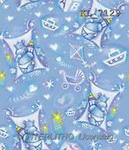 Interlitho, Ioannis, GIFT WRAPS, paintings, blue hippo, symbols(KL7129,#GP#) everyday
