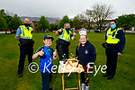 Adam and Grace Roche celebrating their 9th birthday as they receive a Birthday Salute from members of Tralee Garda. Front l to r: Adam and Grace Roche. Back l to r: Gda Shane Kelly, Gda Mary Gardiner and Gda Eilish Cronin