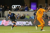 SAN JOSE, CA - JUNE 26: Jackson Yueill #14 during a Major League Soccer (MLS) match between the San Jose Earthquakes and the Houston Dynamo on June 26, 2019 at Avaya Stadium in San Jose, California.