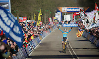 Wout Van Aert (BEL) overwhelmed at becoming World Champion<br /> <br /> 2014 UCI cyclo-cross World Championships, Men U23