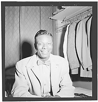 Portrait of Nat King Cole, New York, N.Y.<br /> , Nov 1946, at Paramount Theater,<br /> <br /> PHOTO :  William P. Gottlieb