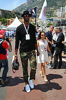 MONACO FORMULA ONE Dwayne Wade and Gabrielle Union with Chris Bosh and Andrienne Williams.