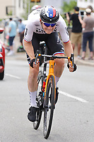 2nd July 2021; Le Creusot, France; MOHORIC Matej (SLO) of BAHRAIN VICTORIOUS during stage 7 of the 108th edition of the 2021 Tour de France cycling race, a stage of 248,1 kms