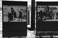 Auschwitz / Poland 2011.A photograph depicts a family walking along a railway heading towards the gas chamber at K-4 and K-5, at the Auschwitz/Birkenau complex. The family was photographed by the SS between 1943 and 1944..Photo Livio Senigalliesi