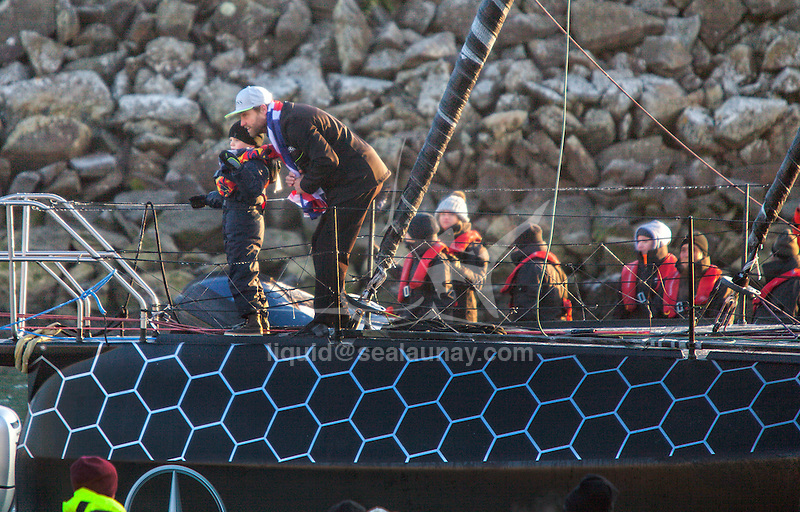 Alex crossed the Vendée Globe finish line this morning in 74 days, 19 hours, 35 minutes and 15 seconds, Alex Thomson (HUGO BOSS) has become the fastest British sailor on that route..The Vendée Globe is a round-the-world single-handed yacht race, sailed non-stop and without assistance.
