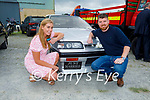 Samantha and Eoghan O'Keeffe celebrating their first day of wedded bliss and supporting the Paudie Fitzmaurice Tractor Run in Castleisland on Sunday.