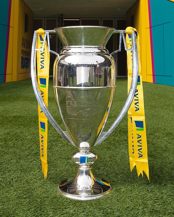 The Aviva Premiership Rugby trophy on display at the launch at Twickenham Stadium on Thursday 25 September 2016 (Photo by Rob Munro/Stewart Communications)