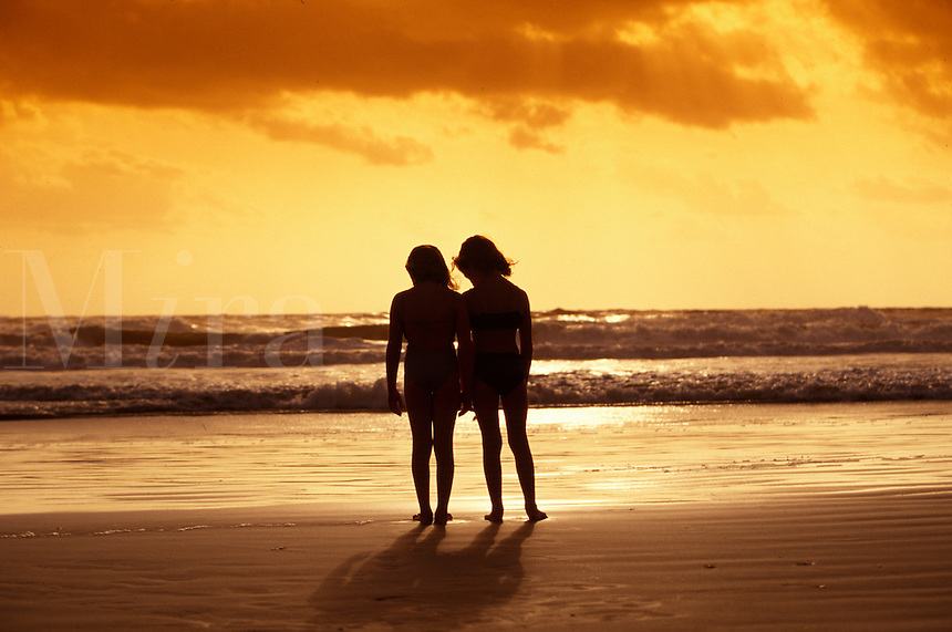Two girlfriends at the beach.