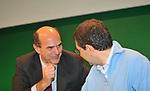 PIERLUIGI BERSANI CON IGNAZIO MARINO<br /> ASSEMBLEA PARTITO DEMOCRATICO - HOTEL MARRIOTT ROMA 2009