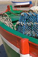 Europe/France/Bretagne/29/Finistère/Brignogan:  Détail d'un caseyeur sur la Plage  des Crapauds à Brignogan avec ses casiers pour la pêche aux crustacés