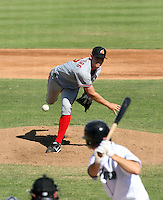 Stephen Strasburg - Phoenix Desert Dogs pitching his second Arizona Fall League game against the Peoria Javelinas at Peoria Sports Complex - 10/22/2009. Strasburg, the 1st overall pick in the 2009 draft, is facing 2nd overall pick Dustin Ackley of the Javelinas..Photo by:  Bill Mitchell/Four Seam Images..