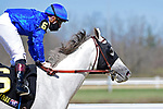 March 27, 2021: Cave Hill #6, ridden by jockey Declan Cannon, wins the Rushaway Stakes on Jeff Ruby Steaks Stakes Day at Turfway Park in Florence, Kentucky. Jessica Morgan/Eclipse Sportswire/CSM