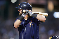 Jarrod Saltalamacchia (39) of the Toledo Mud Hens at bat against the Charlotte Knights at BB&T BallPark on June 22, 2018 in Charlotte, North Carolina. The Mud Hens defeated the Knights 4-0.  (Brian Westerholt/Four Seam Images)