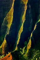 Kalalau Valley with knife edged ridge. Koke'e State Park. Waimea Canyon. Kauai, Hawaii