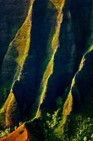 Kalalau Valley with knife edged ridge. Koke'e State Park. Waimea Canyon. Kauai, Hawaii