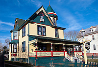 Victorian guest house in Cape May, New Jersey, USA