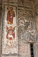 Europe/France/Midi-Pyrénées/65/Hautes-Pyrénées/Mont: L'église Romane Saint-Barthélémy - les fresques du XVI