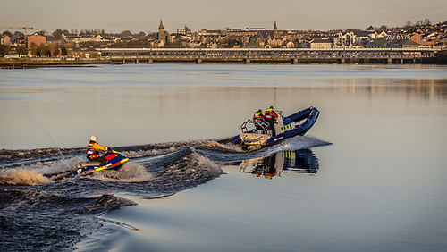 Foyle Search and Rescue on the river