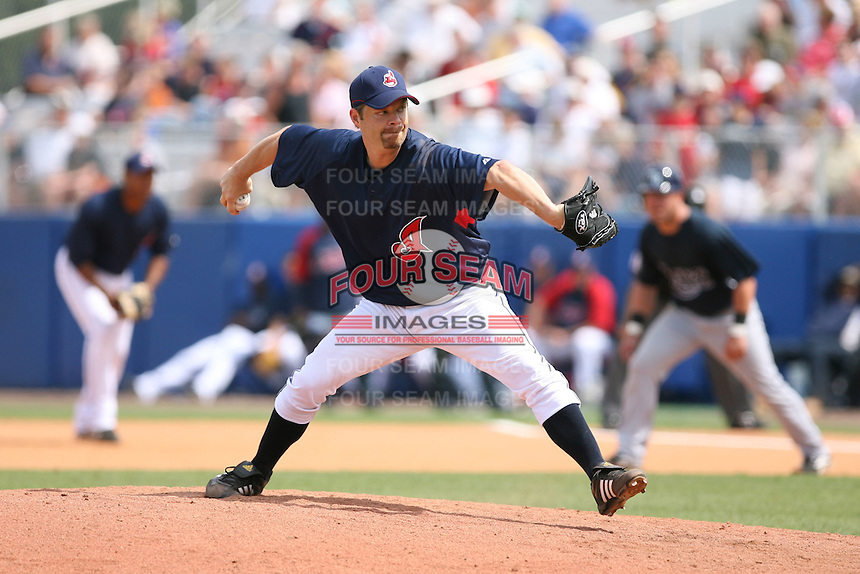 March 20th 2008:  Paul Byrd of the Cleveland Indians during a Spring Training game at Chain of Lakes Park in Winter Haven, FL.  Photo by:  Mike Janes/Four Seam Images