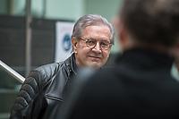 """Vorstellung des Programms der Pratei """"Team Todenhoefer"""" am Montag den 25. Januar 2021 in Berlin.<br /> Der Investigativ-Journalist, Buchautor und ehemaliges CDU-Mitglied Juergen Todenhoefer (im Bild) stellte zusammen mit der Generalsekretaerin und Sprecherin der Partei, Luisa Geesdorf; dem Bueroleiter der Bundeszentrale, Maximilian Rueger und Foundraising-Chefin Gizem Aksar das Programm der """"Gerechtigkeitspartei - Team Todenhoefer"""" vor.<br /> 25.1.2021, Berlin<br /> Copyright: Christian-Ditsch.de"""