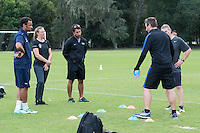 Orlando, FL - Friday Oct. 14, 2016:   Lead instructor Vanni Sartini provides instruction to candidates during a US Soccer Coaching Clinic in Orlando, Florida.