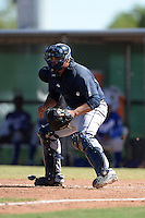 Seattle Mariners catcher Johan Quevedo (52) during an instructional league game against the Kansas City Royals on October 2, 2013 at Surprise Stadium Training Complex in Surprise, Arizona.  (Mike Janes/Four Seam Images)