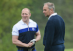 England's Mike Tindall and Sir Steve Redgrave chat in between shots ..Celebrity Cup at Golf Live  - Celtic Manor Resort - Friday 10th  May  2013 - Newport ..© www.sportingwales.com- PLEASE CREDIT IAN COOK