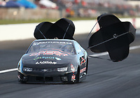 Sep 2, 2017; Clermont, IN, USA; NHRA pro stock driver Larry Morgan during qualifying for the US Nationals at Lucas Oil Raceway. Mandatory Credit: Mark J. Rebilas-USA TODAY Sports