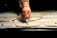 Modena, 23 February 2017 – A chef at work during a lunch service at Osteria Francescana, Modena, Italy. Photo Sydney Low