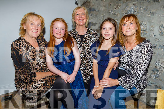 Scarlett Bees from Tralee celebrating her 9th birthday in Bella Bia on Friday.  L to r: Mags Lynch, Scarlett Bees, Marion Fitzgerald Sophie Brick and Kay Lynch.