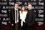 David Trueba, Natalia de Molina and Javier Camara attends the Goya Awards nominee party at Canal Theater in Madrid, Spain. January 20, 2014. (ALTERPHOTOS/Victor Blanco)