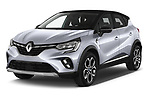 2020 Renault Captur E-Tech-First 5 Door SUV Angular Front automotive stock photos of front three quarter view