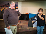 Give it your Best Shot Speaker's Choice Awards at the end of the Saturday symposium at STW XXXI, Winnemucca, Nevada, April 12, 2019.<br /> .<br /> .<br /> .<br /> .<br /> @shootingthewest, @winnemuccanevada, #ShootingTheWest, @winnemuccaconventioncenter, #WinnemuccaNevada, #STWXXXI, #NevadaPhotographyExperience, #WCVA