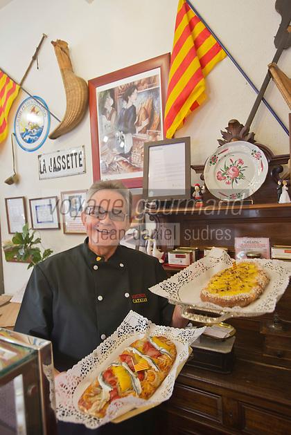 Europe/France/Languedoc-Roussillon/66/Pyrénées-Orientales/Perpignan: Guy Urrutia, spécialiste des Fougasses ou Coques: Le Meunier Catalan