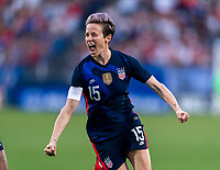 FRISCO, TX - MARCH 11: Megan Rapinoe #15 of the United States celebrates during a game between Japan and USWNT at Toyota Stadium on March 11, 2020 in Frisco, Texas.