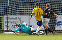 Cowdenbeath's Jordan Morton scores their second goal.