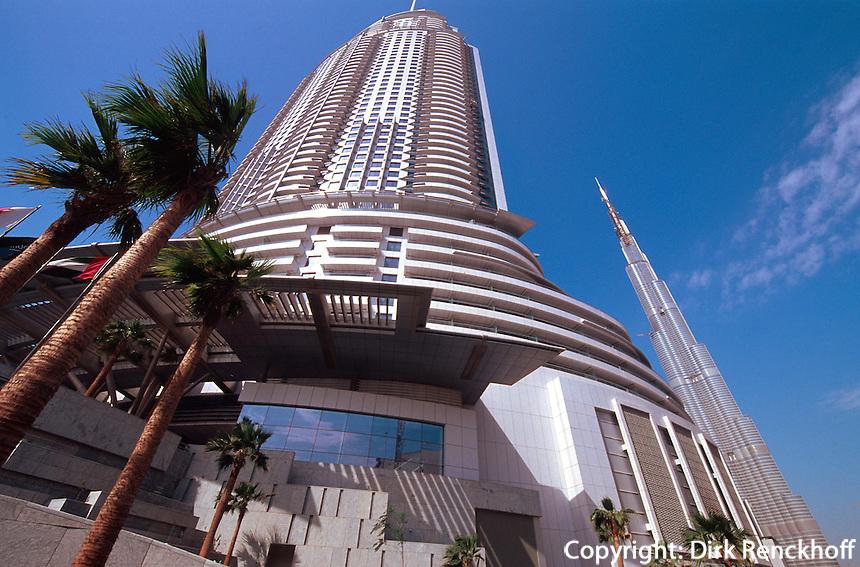 Hotel The Adress und Hochhaus  Burj Khalifa, Dubai, Vereinigte arabische Emirate (VAE, UAE)