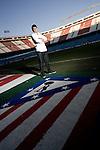 Atletico de Madrid's Eduardo Salvio during portrait session. February 02, 2010. (ALTERPHOTOS/Alvaro Hernandez)