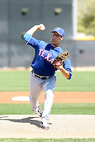 Nick McBride, Texas Rangers minor league spring training..Photo by:  Bill Mitchell/Four Seam Images.