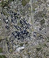 aerial photo map of Dallas, Texas, 2020