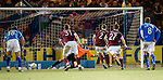 Hearts v St Johnstone...14.02.12.. Scottish Cup 5th Round Replay.Jamie Hamill scores from the spot to make it 1-1.Picture by Graeme Hart..Copyright Perthshire Picture Agency.Tel: 01738 623350  Mobile: 07990 594431