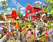 Lori, LANDSCAPES, LANDSCHAFTEN, PAISAJES, paintings+++++Funny Farm_2019_9_before 23objects_72,USLS196,#l#, EVERYDAY ,puzzle,puzzles