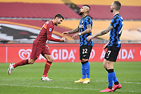 Lorenzo Pellegrini of Roma celebrates after scoring the goal of 1-0  during the Serie A football match between AS Roma and FC Internazionale at Olimpico stadium in Roma (Italy), January 10th, 2021. Photo Andrea Staccioli / Insidefoto