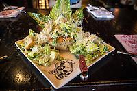 Las Vegas, Nevada.  Caesar Salad, Guy Fieri's Vegas Kitchen and Bar, The Linq Hotel.